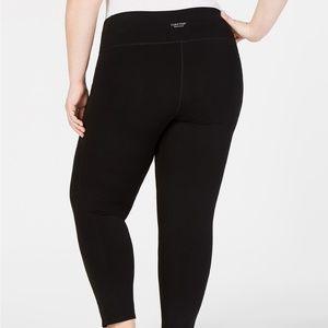 Plus Size Mesh-Pocket High-Rise Leggings Size 1X
